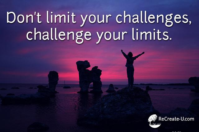 Challenge Your Limits - ReCreate-U.com